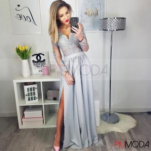 19df65529c DIANA - sukienka koronkowa - długi rękaw