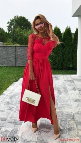 8a164959a8 Susan maxi - sukienka z koronką
